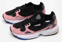 Wholesale best sports shoes for running for sale - Group buy Best Quality New Falcon W Core Black Granite Grey Designer Running Shoes For Mens Women Casual Trainers Sports Sneakers