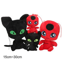 Wholesale toys resale online - Red beetles Plush toy children birthday gifts Soft Stuffed Dolls animal black cat plush toys gifts