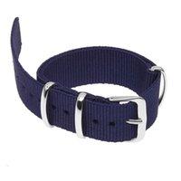синие браслеты оптовых-18мм нейлоновый ремешок для часов ремешок браслет ремешок ремешок темно-синий