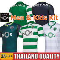 Wholesale 19 Sporting CP Lisbon Soccer Jerseys PHELLYPE Sporting CP FERNANDES Football Shirt ACUNA WENDEL DOST Men Kids Kit uniforms