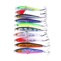 Wholesale top water fishing baits for sale - Group buy 10pcs Top Water Fishing Lure Wobbler Hard Plastic Artificial Surface Pencil Minnow cm g with D Eyes