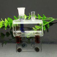 ingrosso sigaretta mini tubo-Bruciatore di sigarette a tubo quadrato mini-portatile Bong in vetro Tubo di fumo in vetro Tubi di acqua Braciere di vetro Bruciatore di olio Bruciatore di olio