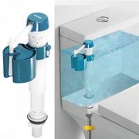 válvulas de descarga de inodoro al por mayor-Vástago del baño Entrada Inodoro Herramienta Flotador Flush ajustable Botón de presión Válvula de agua