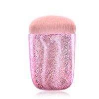 polvo de oro brillo al por mayor-El más nuevo Brillo Brillante Pinceles de Maquillaje Pink Gold Blush Powder Foundation Maquillaje Cepillo Cosmético Maquillage