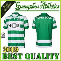 footbal jersey großhandel-Neue thailändische Qualität Sporting home Fußball Trikot 19 20 Lissabon Vintage Fußball Trikots 2019 2020 Ronaldo FERNANDES NANI Camisa de futebol Maillot