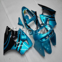 zx6r 1998 99 al por mayor-23 colores + regalos azul claro capucha de la motocicleta para Kawasaki ZX-6R 1998-1999 ZX6R 98 99 ABS plástico carenado