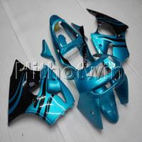 99 zx6r großhandel-Hellblaue Motorradkappe der 23colors + Gifts für Kawasaki ZX-6R 1998-1999 ZX6R 98 99 ABS-Kunststoffverkleidung