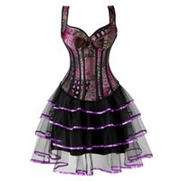 ingrosso cosplay di halloween più il formato-steampunk corsetto plus size gothic jacquard bustier corsetto abiti per le donne gonna tutu set burlesque halloween cosplay
