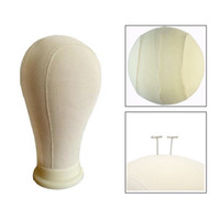 Wholesale stand 21 resale online - 21 Canvas Block Head For Wig Stand and Display Styling Hair Extension For Lace Making Wigs Mannequin Head