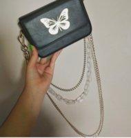 Wholesale butterfly cross body bags resale online - Women small bag pu leather simple fashion girl cross body bag flap messenger shoulder butterfly black o988