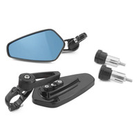 aynalar toptan satış-Evrensel Siyah Çifti Motosiklet Ayna Motor Motosiklet Dikiz Yan Kolu Bar Sonu Aynalar KTM Suzuki Kawasaki Yamaha Için