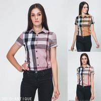 ingrosso camicie per donne-Camicie di design da donna Camicie da t-shirt di marca firmate rotonde di alta qualità Modelli Camicie di polo da donna all'ingrosso