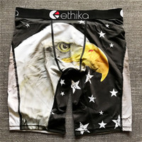 mens spandex boxers venda por atacado-Ethika cuecas marca esporte underwear homens poliéster respirável spandex masculino boxer homem longo dos desenhos animados impressão dos homens sexy boxers sh190906