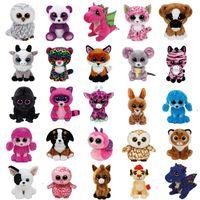 ingrosso grande unicorno peluche-Ty Beanie Boos Unicorn Monkey Grandi occhi Plush Doll Toys for Girl Coniglio Fox Simpatico animale Gufo Cat Coccinella SSA36