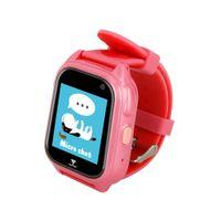 impermeable led led rosa relojes al por mayor-Relojes infantiles Banda de dibujos animados LED Reloj lindo Relojes deportivos de natación para niños Reloj de teléfono inteligente GPS IP67 impermeable Rosa
