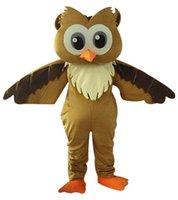 desenhos animados da coruja venda por atacado-NOVA coruja marrom mascote roupas cartoon, fotos físicas de fábrica, qualidade garantida, alta qualidade