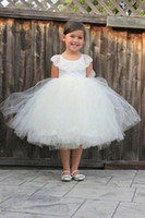 Wholesale christmas pageant dresses for toddlers resale online - Lovey Holy Princess Flower Girl Dresses Ball Gown First Communion Dresses For Girls Sleeveless Tulle Toddler Baby Wedding Party Pageant Dres