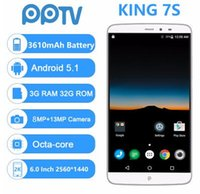 Wholesale 2k screen phone resale online - PPTV King S G Mobile Phone quot Naked Eye D IPS D K Helio X10 Octa Core G G Android mah Smartphone