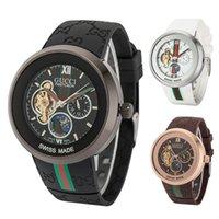 pequenos relógios venda por atacado-Com Caixa de Presente 2019 Luxo Swiss Mens Relógios Movimento Automático dos homens Mecânicos Esportes Assistir Tourbillon Design pequeno relógio trabalho