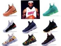 ingrosso tessuto dell'esercito nero bianco-2019 Nuove scarpe firmate 15 EQUALITY Nero Bianco moda traspirante Scarpe da basket per uomo 15s EP Sport Training Sport Sneakers Taglia 40-46