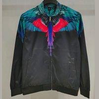 veste en plumes achat en gros de-19SS MB Plume Wing Impression couleur VESTE Cinq Baseball Uniforme Hommes Femmes Street Fashion Manteaux Crew Mode d'extérieur du cou HFHLJK029