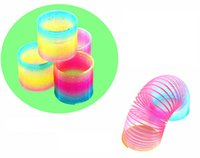 Wholesale rainbow circle toy resale online - Small magic rainbow circle cm upgrade version of the new children s educational toys to spread hot