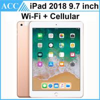 планшет с диагональю 9,7 дюйма оптовых-Восстановленное в Исходном Apple iPad 2018 9,7 дюймов 6-го поколения WIFI + сотовый A10 Fusion Chip Quad Core 2 ГБ ОЗУ 32 ГБ 128 ГБ ROM Планшетный ПК DHL 1шт