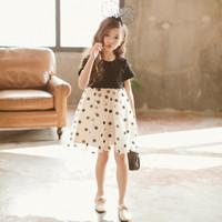 balo elbisesi kabarcık elbiseleri toptan satış-Kızlar prenses elbiseler çocuklar balo elbise yaz kısa kollu polka dot baskılar mesh bubble zarif parti tek parça