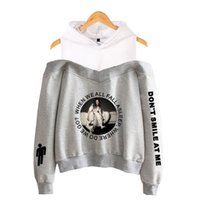 Wholesale dotted sweatshirts resale online - 2019 new high quality hot sale Billie Eilish fashion casual beauty strapless hood sweater ladies sweatshirt pullover