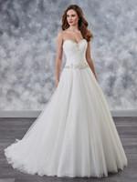 weiße partykleid größe 18 großhandel-Graceful White Tüll Liebsten Applique Perlen A-Line Brautkleider Brautkleider Brautpartykleider Benutzerdefinierte Größe 2-18 WW210076