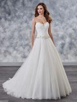 ingrosso dimensione bianca del vestito da partito 18-Graceful White Tulle Sweetheart Applique Perline A-Line Abiti da sposa Abiti da sposa Abiti da festa da sposa Formato personalizzato 2-18 WW210076