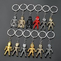 Wholesale spider keychain for sale - The Avengers Iron man spider man key chain Keychain Car Key Holder Acrylic Bell Anime Key Chain Bag Pendant Bts Accessories Girl Gift