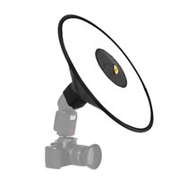 Wholesale camera flash diffuser resale online - Universal cm Portable Collapsible Round Flash Softbox Beauty Dish Flash Speedlite Diffuser for Camera Flash Macro Shooting T191025