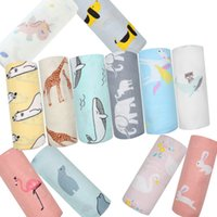 Wholesale cotton jacquard blanket for sale - Group buy Muslin Baby Blanket Cotton Bamboo Super Soft Baby Swaddle For Newborns Lovely Wraps Baby Bath Towel Bed Sheet Stroller Cover Y200109