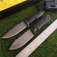 cuchillos de caza de acero d2 al por mayor-Cuchillo recto táctico de supervivencia FBIQQ-bestia de acero frío G10 mango alto cuchillo afilado de 8 pulgadas caza exterior Cuchillo DOC + funda