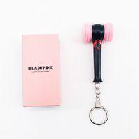 Wholesale fan sticks resale online - BLACKPINK Mini Light Stick Keychain Hammer Light LED Hand Lamp BLACKPINK Concert Support Lightstick Pendant Fans Gifts
