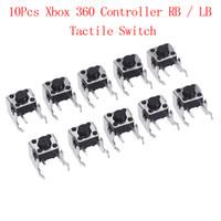 partes de joystick xbox al por mayor-10 piezas de reemplazo de piezas de repuesto Botón LB RB Interruptor Bumper Joystick para Xbox 360 Controller