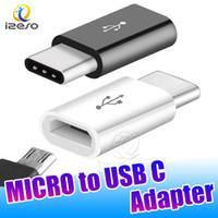 tableta puerto hdmi al por mayor-Adaptador Micro a USB C Adaptador micro hembra a tipo C Tipo Tipo C Cargador para Macbook Xiaomi Huawei Samsung