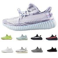 v2 largo al por mayor-adidas yeezy 350 V2 off white boost sneakers 2019 nuevas zapatillas dee color gris cebra a rayas naranja larga zapatillas de deporte negras de calidad 5-12