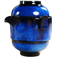 panela de chá de viagem venda por atacado-Terrina de chá de cerâmica Um Pote Dois Xícaras Chinês KungFu Gaiwan Viagem Tea Set Handmade