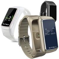 intelligentes sportarmband großhandel-B7 smart armband bluetooth sport smart watch intelligente abnehmbare musik pulsmesser schrittzähler armbanduhr für android ios