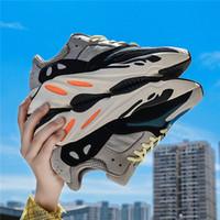 las mejores zapatillas deportivas para mujer. al por mayor-Adidas yeezy 700 Runner 2019 Nuevo Kanye West Mauve Wave Hombres Mujeres Athletic Mejor calidad 700s Deportes de deporte Zapatillas de diseñador con caja boost running shoes