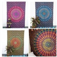 tapete de janelas venda por atacado-Mandala impressão e tingimento praia mat xale yoga cobertores de parede casa pendurado pano única pessoa cortinas de janela 25gy C1