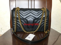 ingrosso borse nere di crossbody-Borse a tracolla da donna borse a catena da donna borsa a tracolla fashion 26CM Borsa da donna in pelle nera