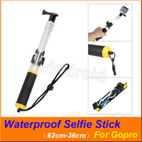 Wholesale gopro camera waterproof for sale - Group buy Lightweight Floating Telescopic Monopod Pole Waterproof Hand Grip Selfie Stick for Gopro Hero Black Action Camera with retail box