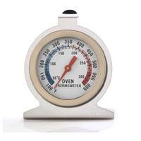 mavi lcd çalar saat toptan satış-Gıda Termometreler Et Termometre Stand Up Dial Dial Fırın Termometre Ölçer Gage Paslanmaz Çelik Ölçer Gage Mutfak Pişirme Aracı DBC VT1713