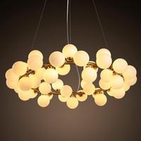 ingrosso copertine moderne di ciondolo-Post Modern Nordic Loft Led oro sfera di vetro Magic Bean G4 lampada a sospensione Dna molecolare lampada a sospensione per soggiorno cucina di casa