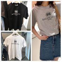 tasarımcılar kadın giyim toptan satış-En Tasarımcı T Shirt bayan Giyim için maymunlar Gömlek Moda Yaz Gömlek Kısa Kollu O Boyun Pamuk Yüksek Kaliteli tee Yüz Baskı
