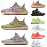 Wholesale big size sneakers for sale - Group buy 2019 New Antlia Lundmark Pink GID Glow In The Dark Clay Black Static Clay Running Shoes Men Women Kanye West V2 Designer Big Size Sneakers