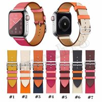 Wholesale iwatch adapter for sale - Group buy For Apple Watch Bands WristBand Series Replacement Watchband luxury Designer Brand Leather Straps With Adapter iwatch Bands mm